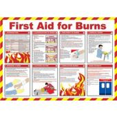 Click Medical First Aid for Burns Poster A603