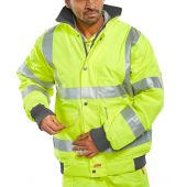 B-Seen Hi Vis Super Bomber Jacket Lined