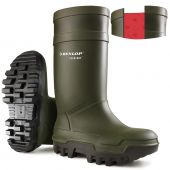 Dunlop Purofort Thermo+ C662933 Full Safety Wellingtons Green