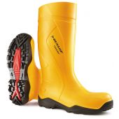 Dunlop Purofort+ C762241 Full Safety Wellingtons Yellow