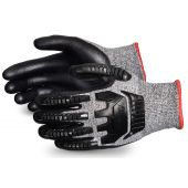 Superior STAFGFNVB TenActiv Anti-Impact Cut-Resistant Composite Knit Glove with Black Foam Nitrile Palms