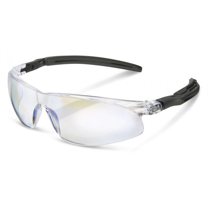 B-Brand Heritage BBH50 Ergonomic Temple Safety Glasses Clear Lens
