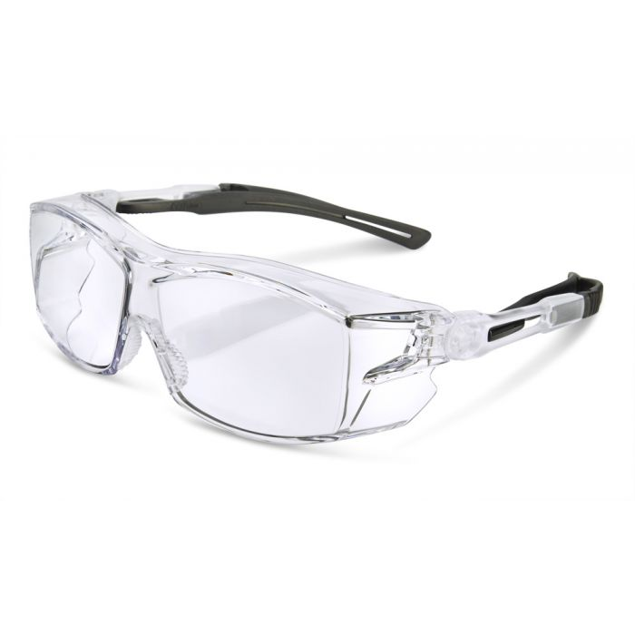 B-Brand Heritage BBH60 Ergonomic Temple Cover Safety Glasses Clear Lens