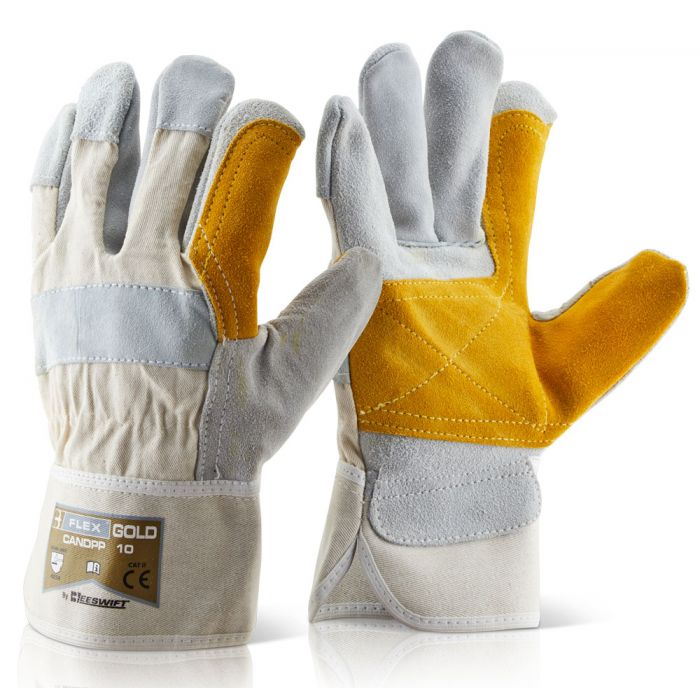 B-Flex Canadian Double Palm High Quality Rigger Gloves