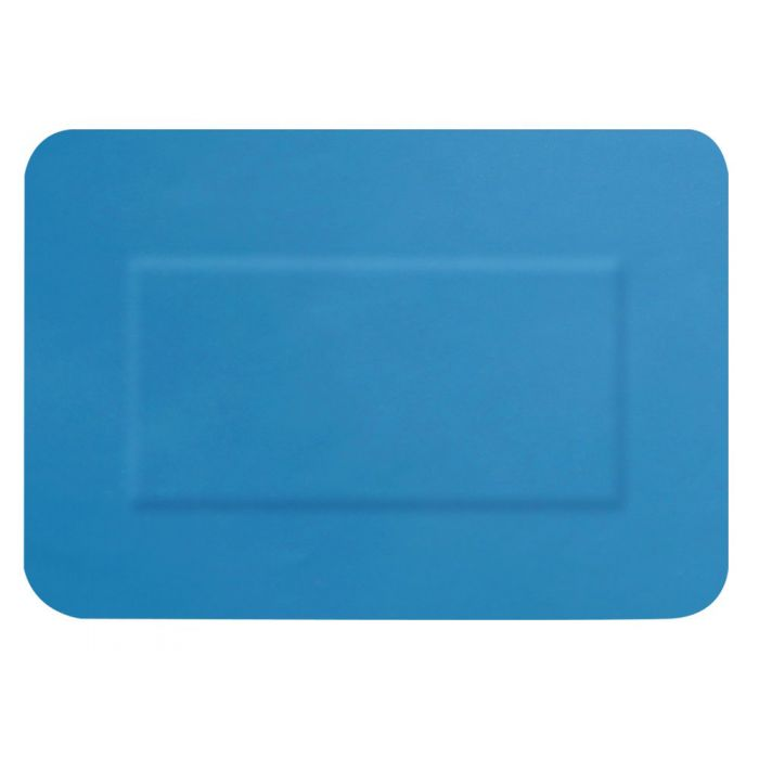 Click Medical Blue Detectable Large Patch Plasters 72x50mm Pack of 50