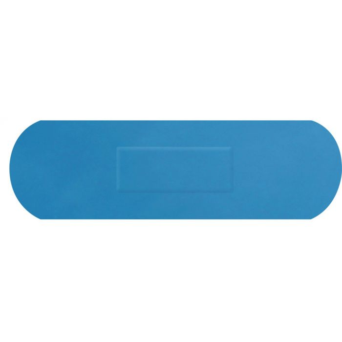Click Medical Blue Detectable Senior Strip Plasters 72x22mm Pack of 100