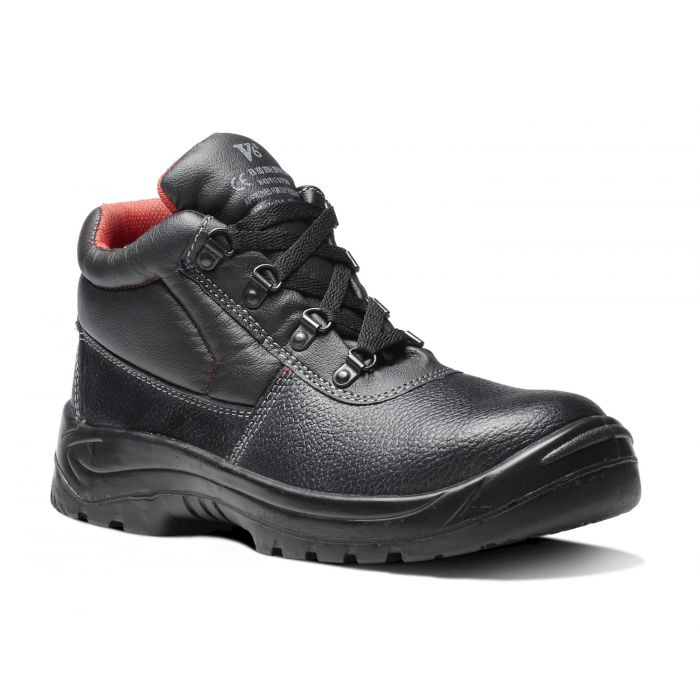 V12 Footwear V6471 Elk Black Grained 4 D-ring Scuff Cap Safety Boots