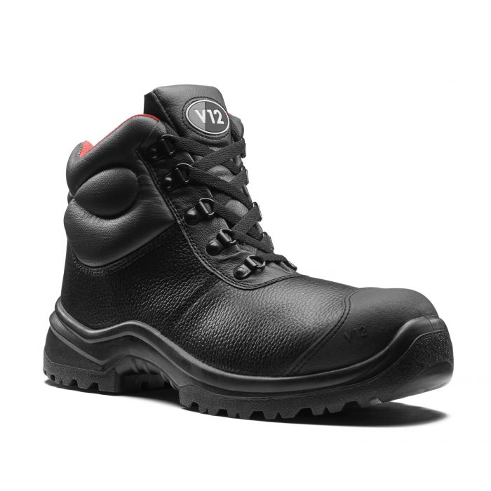 V12 Footwear V6863.01 Rhino STS Black 5 D-ring Scuff Cap Safety Boots