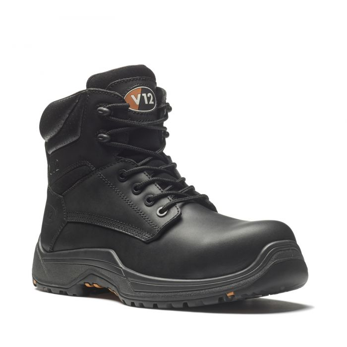 V12 Footwear VR600.01 Bison IGS Black Waxy Derby Safety Boots