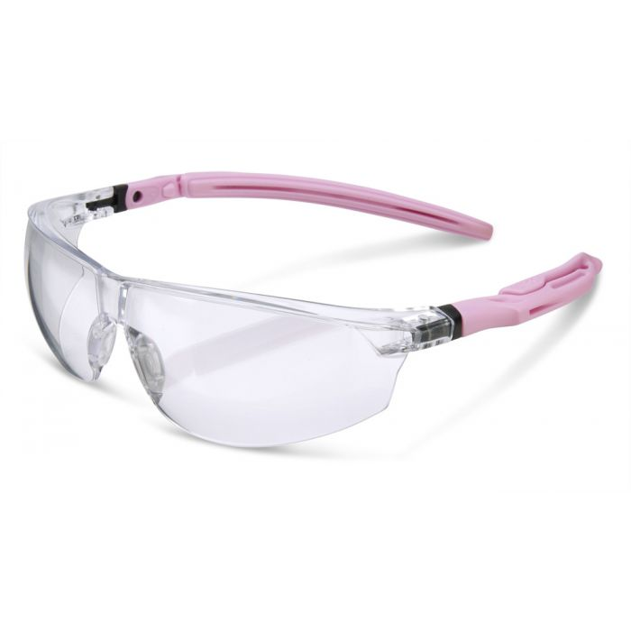 B-Brand Heritage BBH30 Ergonomic Temple Safety Glasses Clear Lens