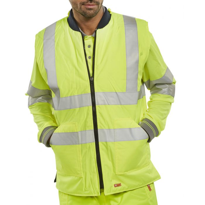B-Seen Hi Vis Reversible Bodywarmer