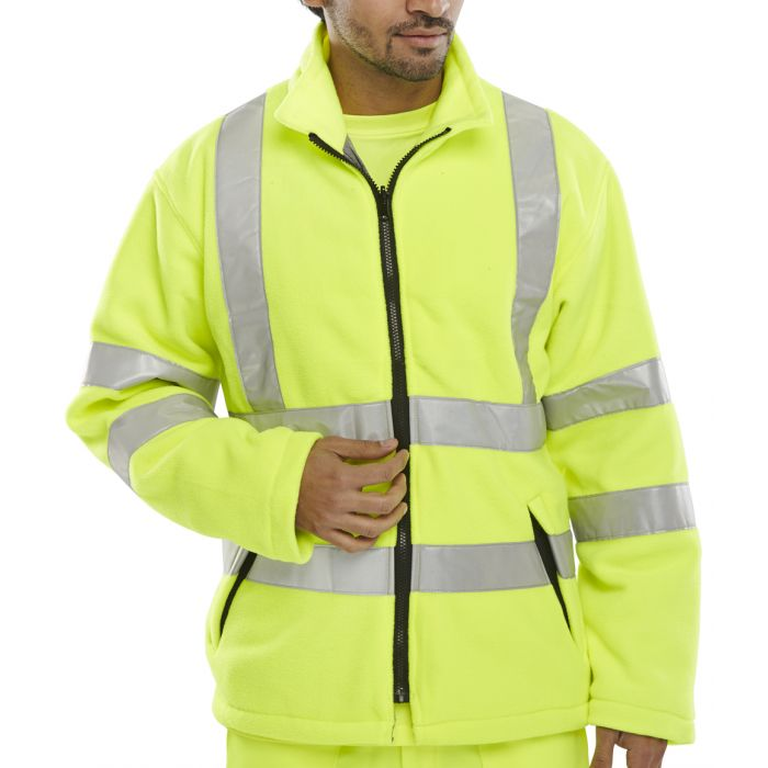 B-Seen Carnoustie Hi Vis Fleece Jacket