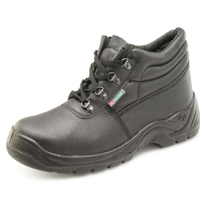 B-Click Footwear 4 D Ring Chukka Safety Boots With Midsole Black
