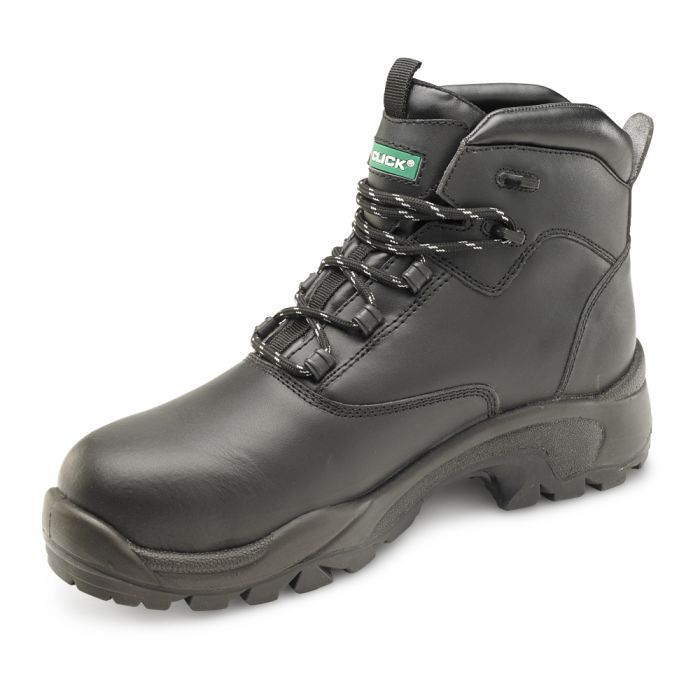 B-Click Footwear Composite PU/Rubber Safety Boots Black