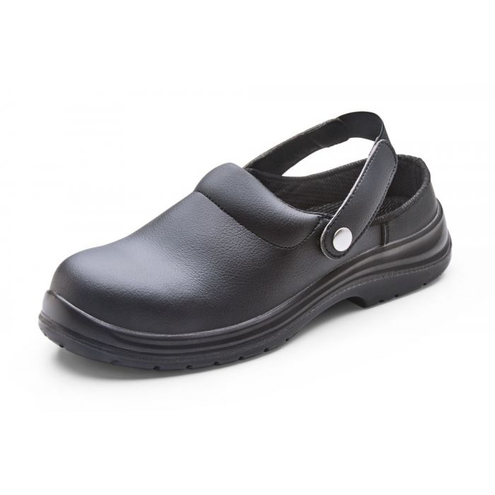 B-Click Footwear Microfibre Safety Slippers Black