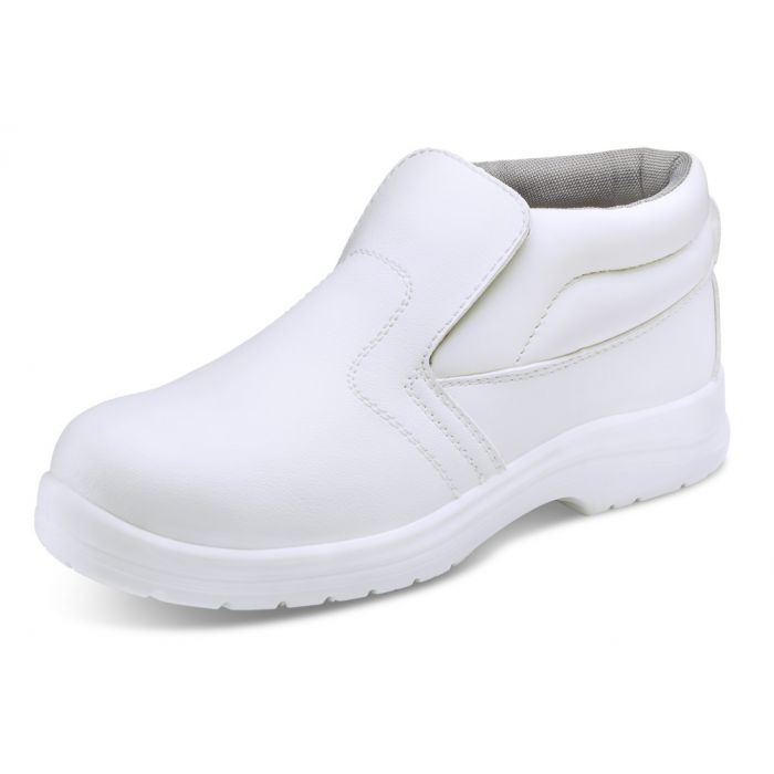 B-Click Footwear Micro-Fibre Safety Boots White