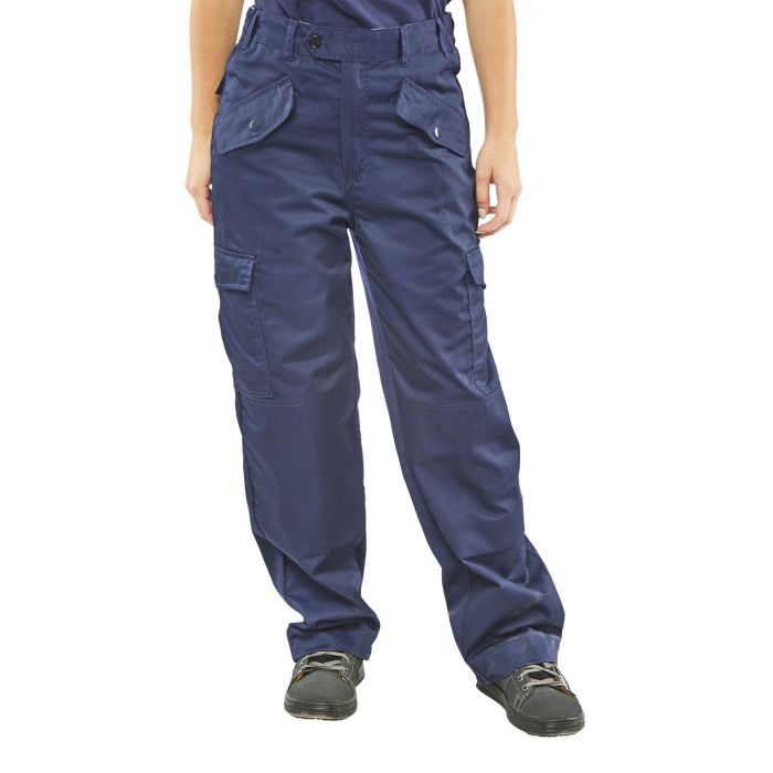 B-Click Workwear Ladies Polycotton Trousers Navy