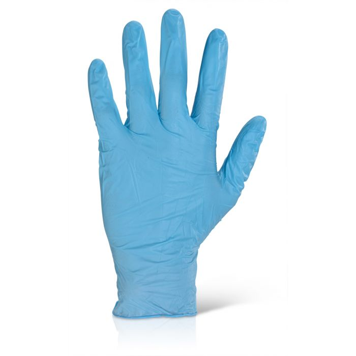 B-Click 2000 Nitrile Examination Gloves Powder Free Blue 100s