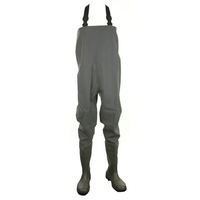 Dunlop PVC Non Safety Chest Waders Green