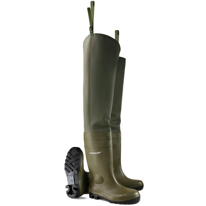 Dunlop Protomaster 142VP.PP Full Safety Green Thigh Waders