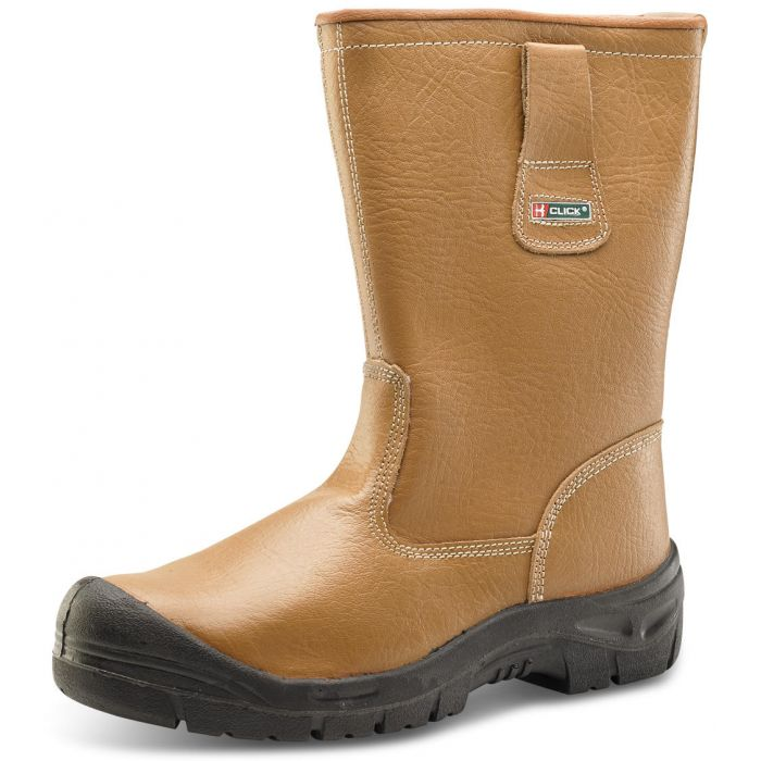 B-Click Footwear Lined Rigger Safety Boots With Scuffcap
