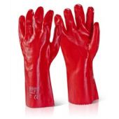 B-Click 2000 14 Inch Open Cuff PVC Gauntlet Red