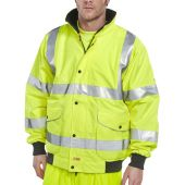 B-Seen Hi Vis Super Bomber Jacket Unlined Breathable