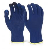 B-Flex Touch Screen Knitted Gloves Blue Pack of 10 Pairs