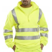 B-Seen Hi Vis Sweatshirt Zipped
