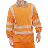 B-Click ARC Compliant Flame Retardant Hi-Vis Orange GO/RT Polo Shirt