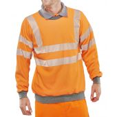 B-Click ARC Compliant Flame Retardant Hi-Vis Orange GO/RT Sweatshirt