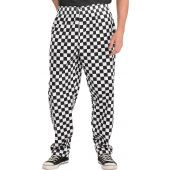 B-Click Workwear Chefs Trousers Black/White Large Check