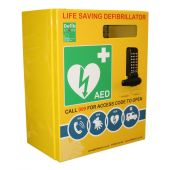 Click Medical Stainless Steel Defibrillator Cabinet with Lock and Electrics