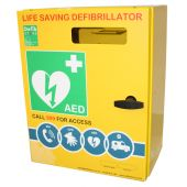 Click Medical Stainless Steel Defibrillator Cabinet (NO Lock and Electrics)