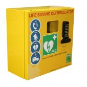 Click Medical Mild Steel Defibrillator Cabinet with Lock and Electrics