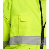 B-Seen Europa Two Tone Hi Vis Bomber Jacket