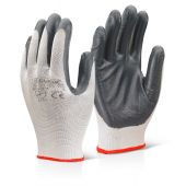 B-Click 2000 Nitrile Palm Coated Polyester Gloves Grey