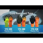 Wonder Grip Thermo Plus WG-338 Latex Fully Coated Acrylic Thermal Orange Gloves