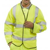 B-Seen Long Sleeved Hi Vis Jerkin Saturn Yellow